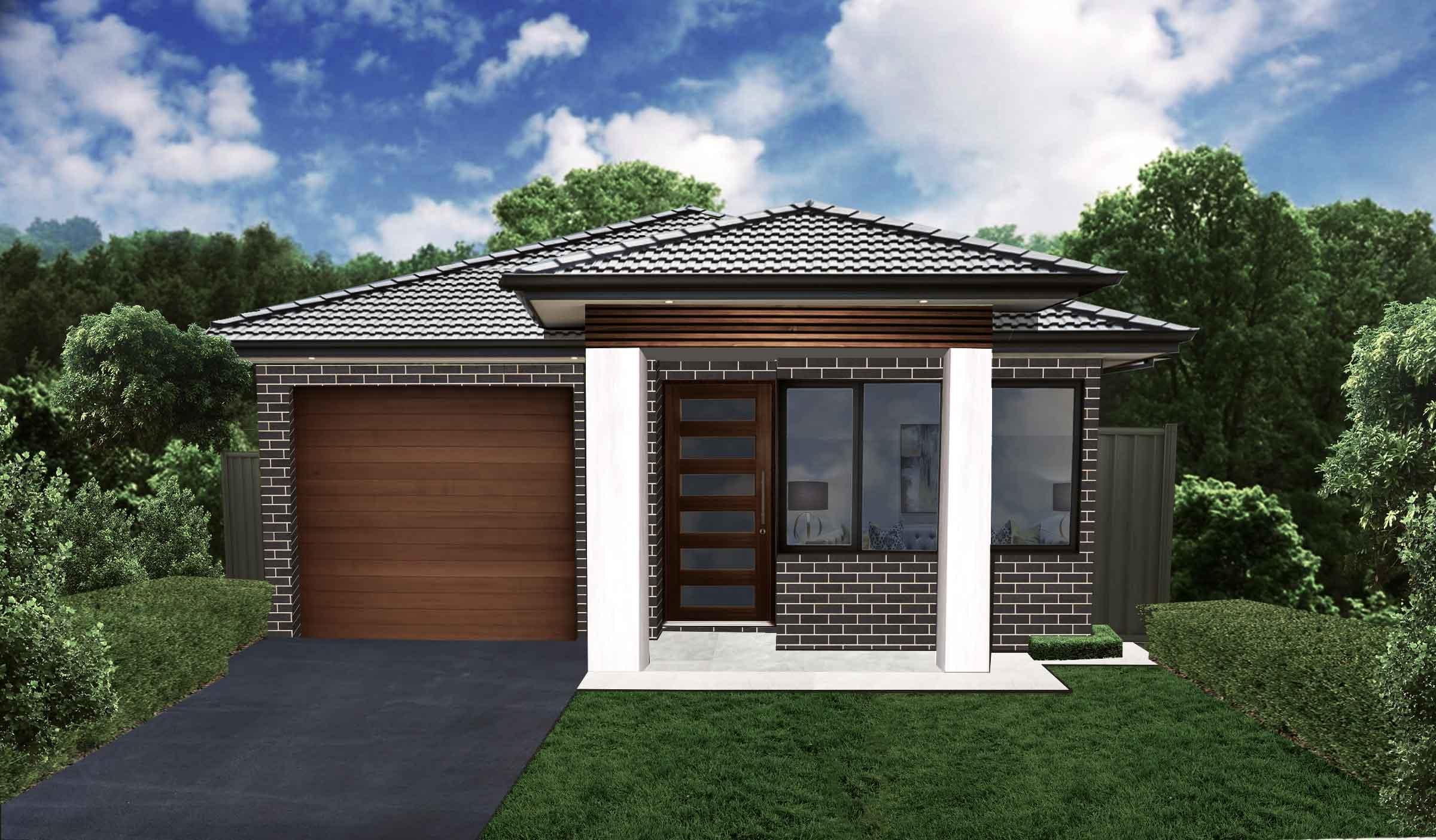 Single-storey--single-garage